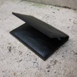 Card holder in vegetable tanning leather Made in Paris
