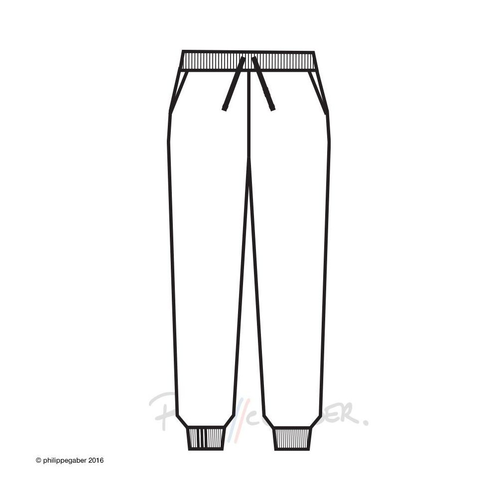 Organic Sweatpants 3 folds + pockets Made in Paris