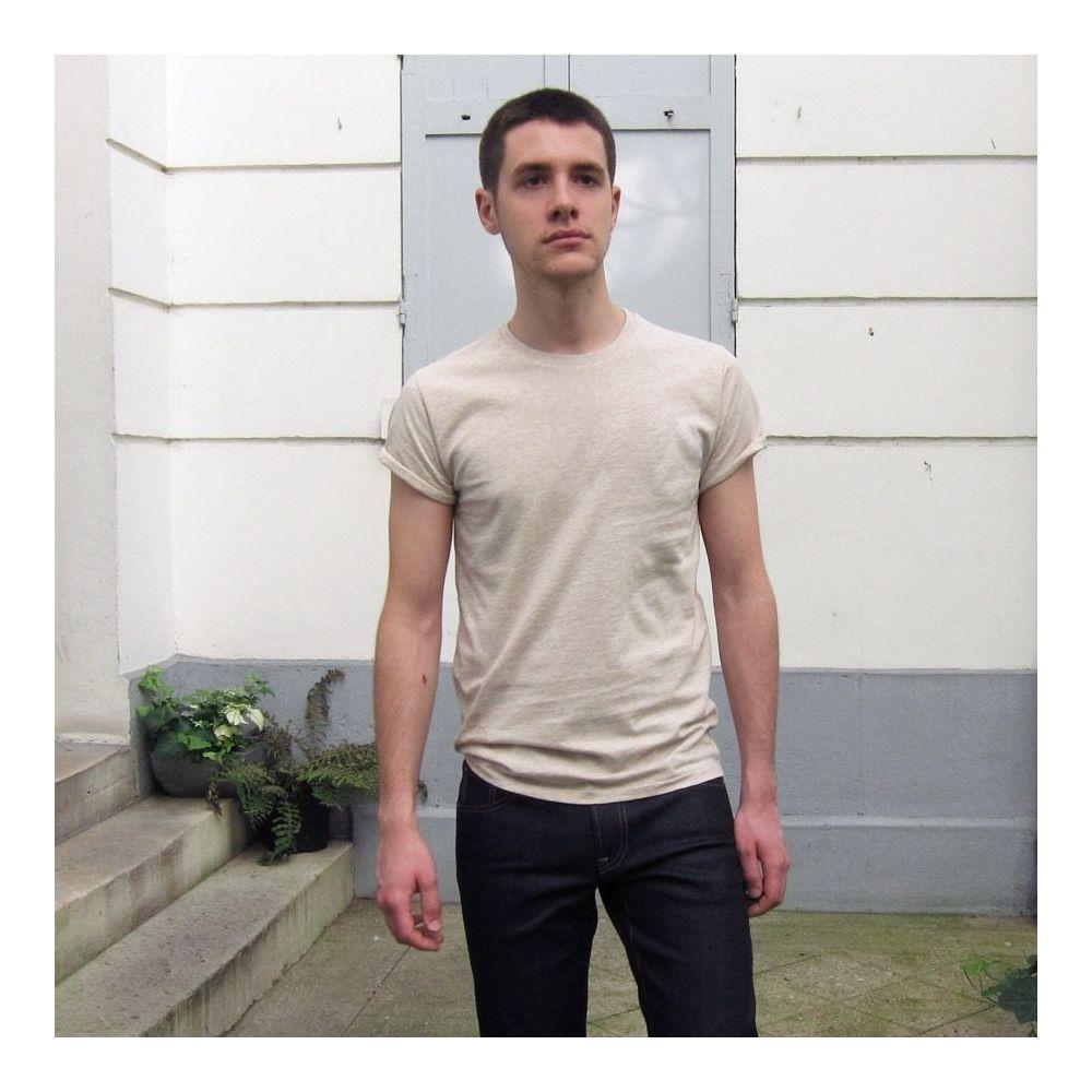 T-shirt bio homme & femme fabriqué et brodé par Philippe Gaber à Paris . Un t-shirt mode éthique Made in France