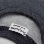 Sweat-shirt Bio éthique avec 3 plis sur le poignet fabriqué à Paris