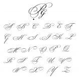 Lot de 3 Mouchoirs avec vos initiales brodées Style Script