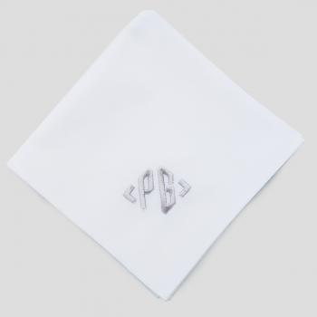 3 Mouchoirs avec vos initiales brodées mouchoirs made in France personnalisé avec vos initiales fabriqué et brodé à Paris par Ph