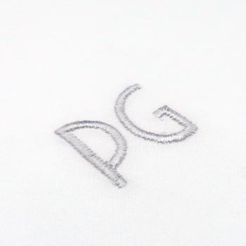 3 Mouchoirs bio luxe Made in France personnalisation initiales brodées art déco philippegaber Paris
