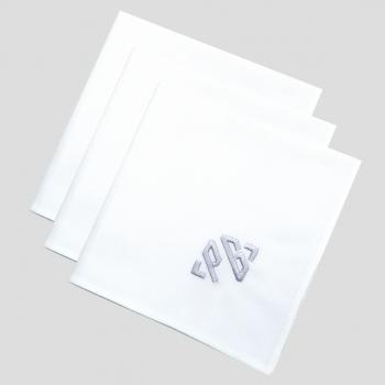 Set of 3 organic handkerchiefs