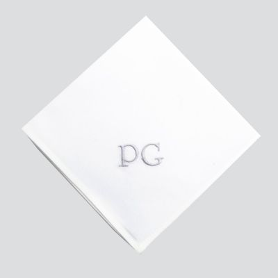 3 Handkerchiefs 40cm in organic cotton batiste woven in France ©philippegaber