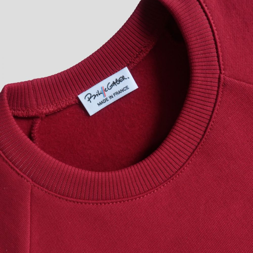 Sweat-shirt bio homme femme Made in France par Philippe Gaber. Un Sweat-shirt éthique et exclusif fabriqué à Paris dans un superbe Coton bio certifié Gots