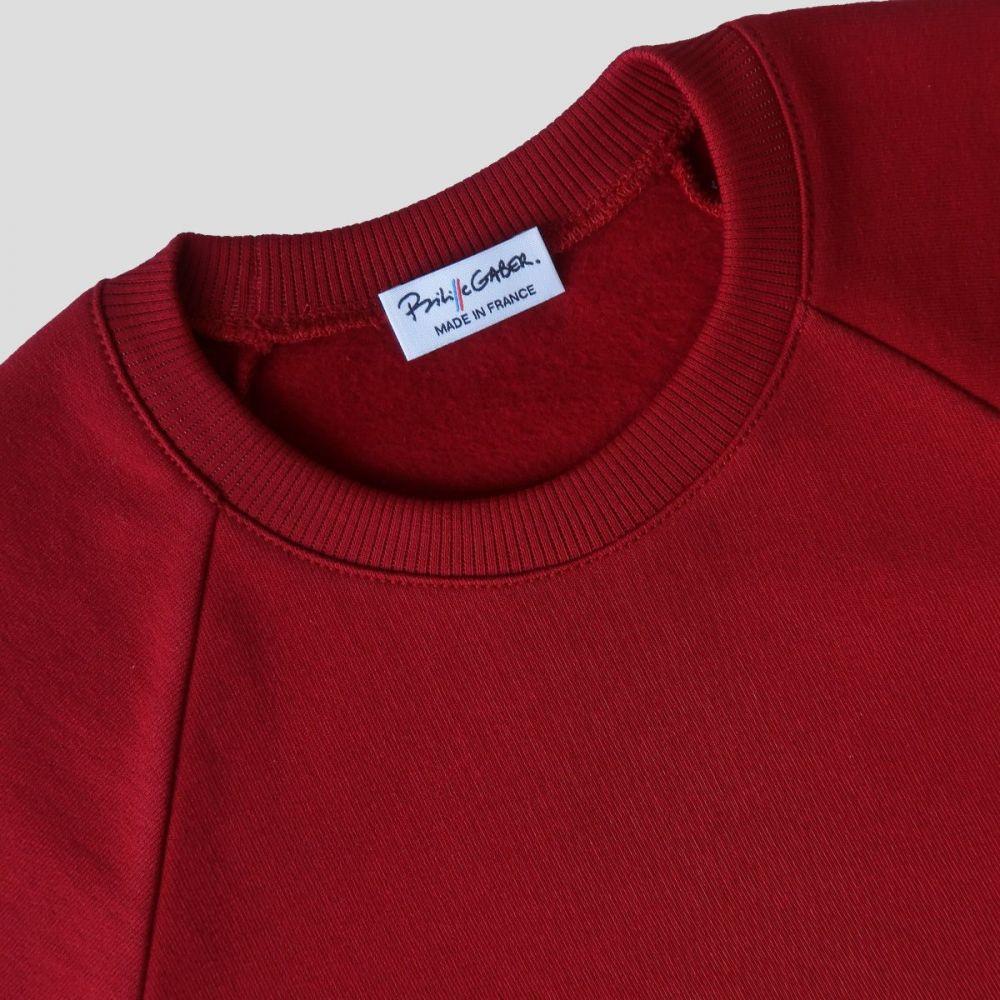 Sweat-shirt Made in France et bio pour Homme Femme Sweatshirts français éco-responsable fabriqués avec éthique à Paris par Philippe Gaber