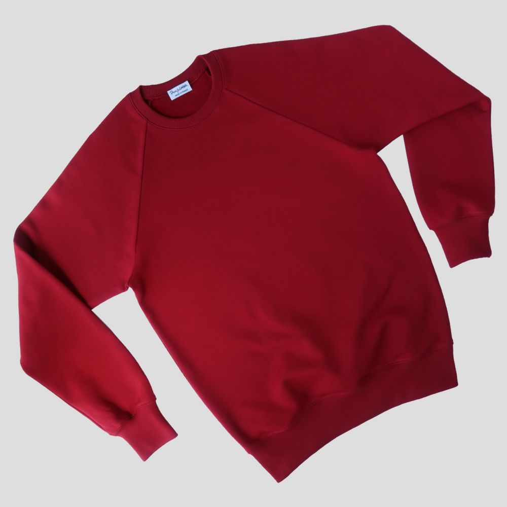 Sweatshirt bio rouge fabriqué à Paris par Philippegaber Sweatshirt Made in France Homme et femme