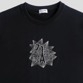 T-shirt bio et Made in France 71 Saint Maur brodé par Philippegaber Artisan fabrique t-shirt bio à Paris Made in France
