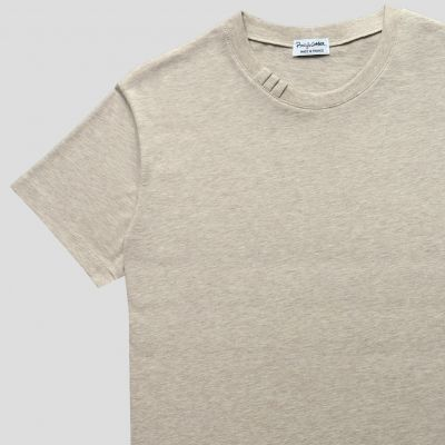Men's & women's Natural Organic T-shirt rolled sleeves