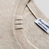 T-shirt Made in France & Bio 3plis col : garanti que votre tshirt bio est made in France car fabriqué à Paris par PhilippeGaber