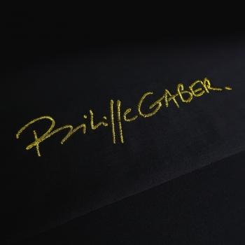 T-shirt Bio signature philippegaber brodée