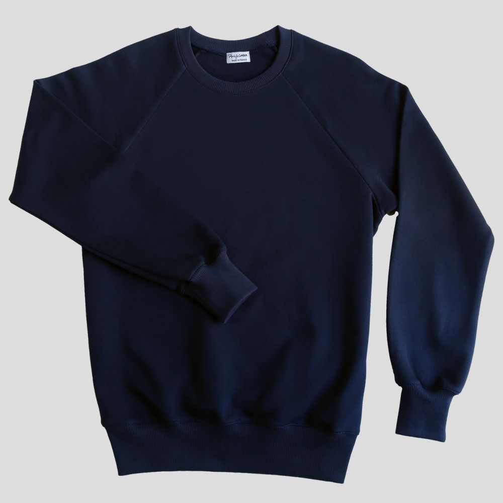 Organic navy sweatshirt Made in France | PhilippeGaber