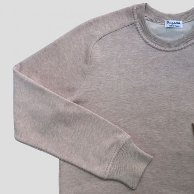 Sweat-shirt bio manches marteau Point Paris