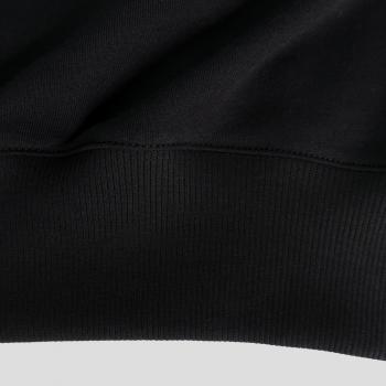 Black Organic sweatshirt made in France - organic sweatshirt for men and women made in Paris by PhilippeGaber
