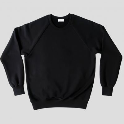 Black Organic sweatshirt made in France - organic sweatshirt for men and women made in Paris by PhilippeGaber