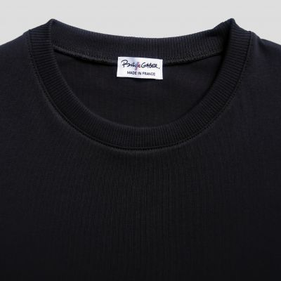 men & women black organic T-shirt bio Made in France
