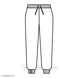 Sweat pantalon coton bio Gots fabriqué à Paris 3 plis cheville