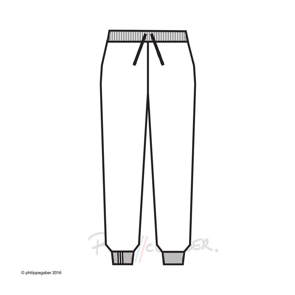Organic Sweatpants 3 folds right ankle Made in Paris