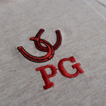 Your monogram embroidered on your philippegaber scarf made in France