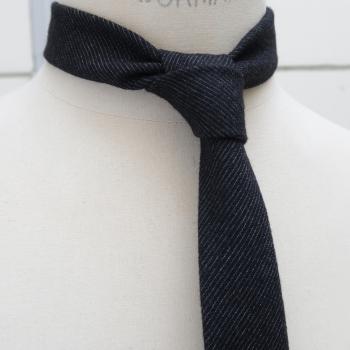Gray sky from Paris in 1937 handmade Necktie in Paris