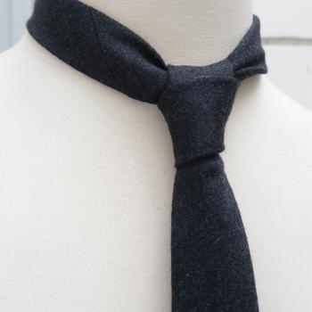 Signé Noblet stripes handmade necktie in Paris