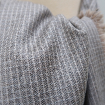 Wool and cashmere scarf gray sand made in France men & women scarves | PhilippeGaber