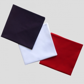 Set of 3 French organic handkerchiefs