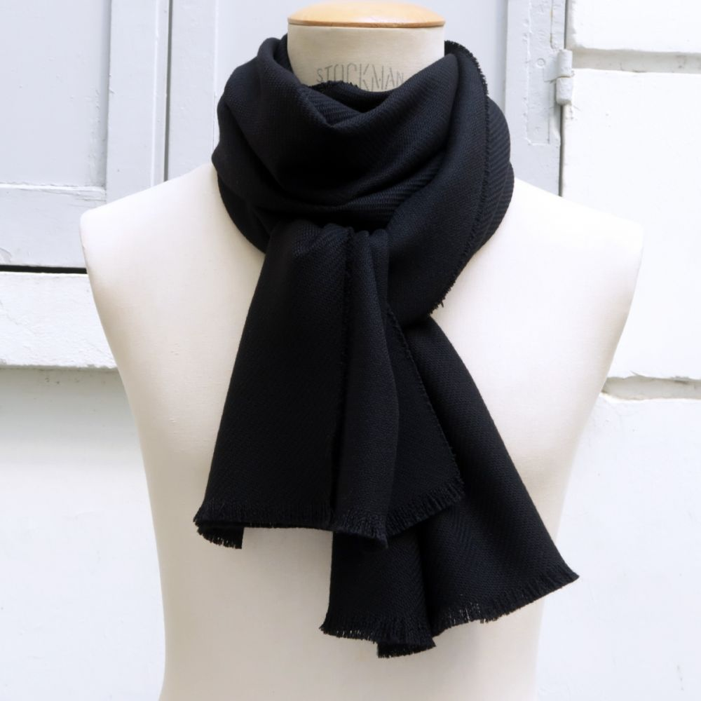 Wool and cashmere scarf made in france for man and women exclusive limited edition from Paris by PhilippeGaber