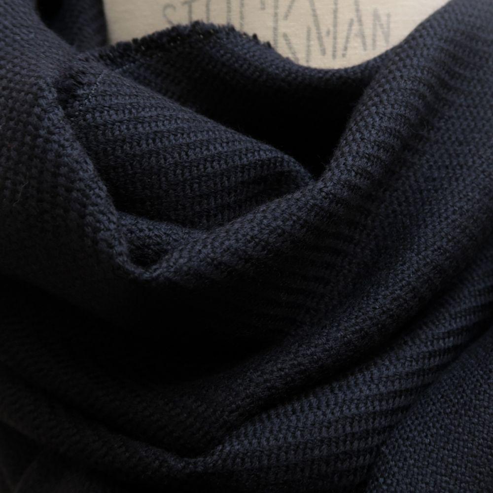 écharpe luxe Paris écharpe Made in France laine et cachemire noir pour l'homme et la femme PhilippeGaber