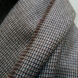 Echarpe laine & soie marron glacé made in France écharpe luxe homme et femme Paris PhilippeGaber