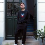 Tricolor embroidered organic sweatshirt MADE IN FRANCE sweatshirt made in Paris by PhilippeGaber