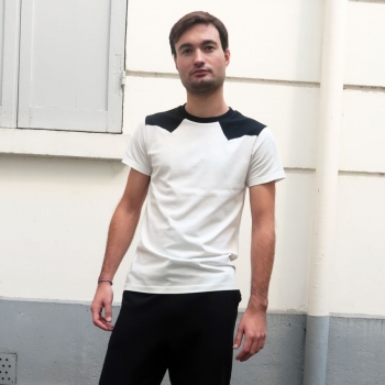 Black organic T-shirt Made in France