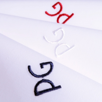 Organic Handkerchiefs Made in France embroidered with your initials in Blue, White & Red Made In Paris by PhilippeGaber