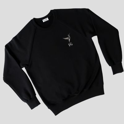sweat-shirt coton bio Made in France personnalisé fabriqué et brodé avec les initiales à Paris par PhilippeGaber