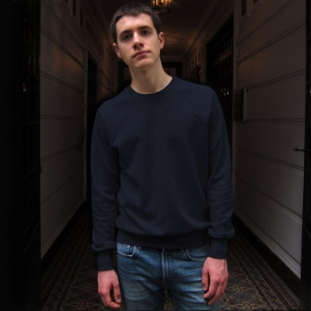 Sweat-shirt Bio et Made in France bleu marine Philippe Gaber sweat-shirt Homme femme fabriqués à Paris depuis 2009