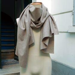 Echarpe foulard Coton Cachemire jaune moutarde