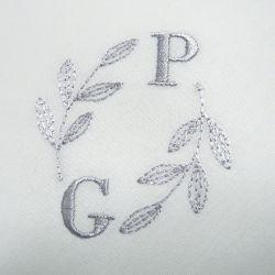 Mouchoirs coton bio français personnalisés avec vos initiales  brodées et fabriqué à Paris par PhilippeGaber