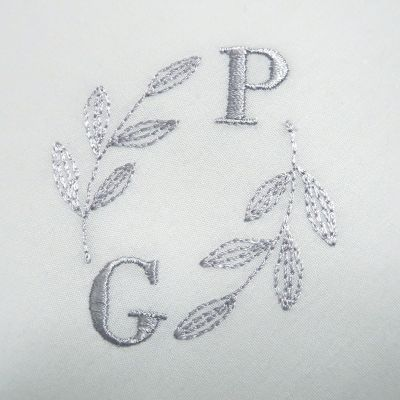 organic handkerchiefs woven in France and personalised with your initials in Paris by PhilippeGaber