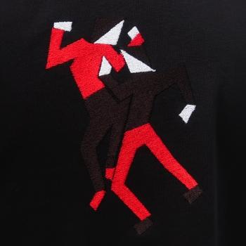 T-shirt coton Bio Noir Just keep Dancing ! brodé & fabriqué à Paris