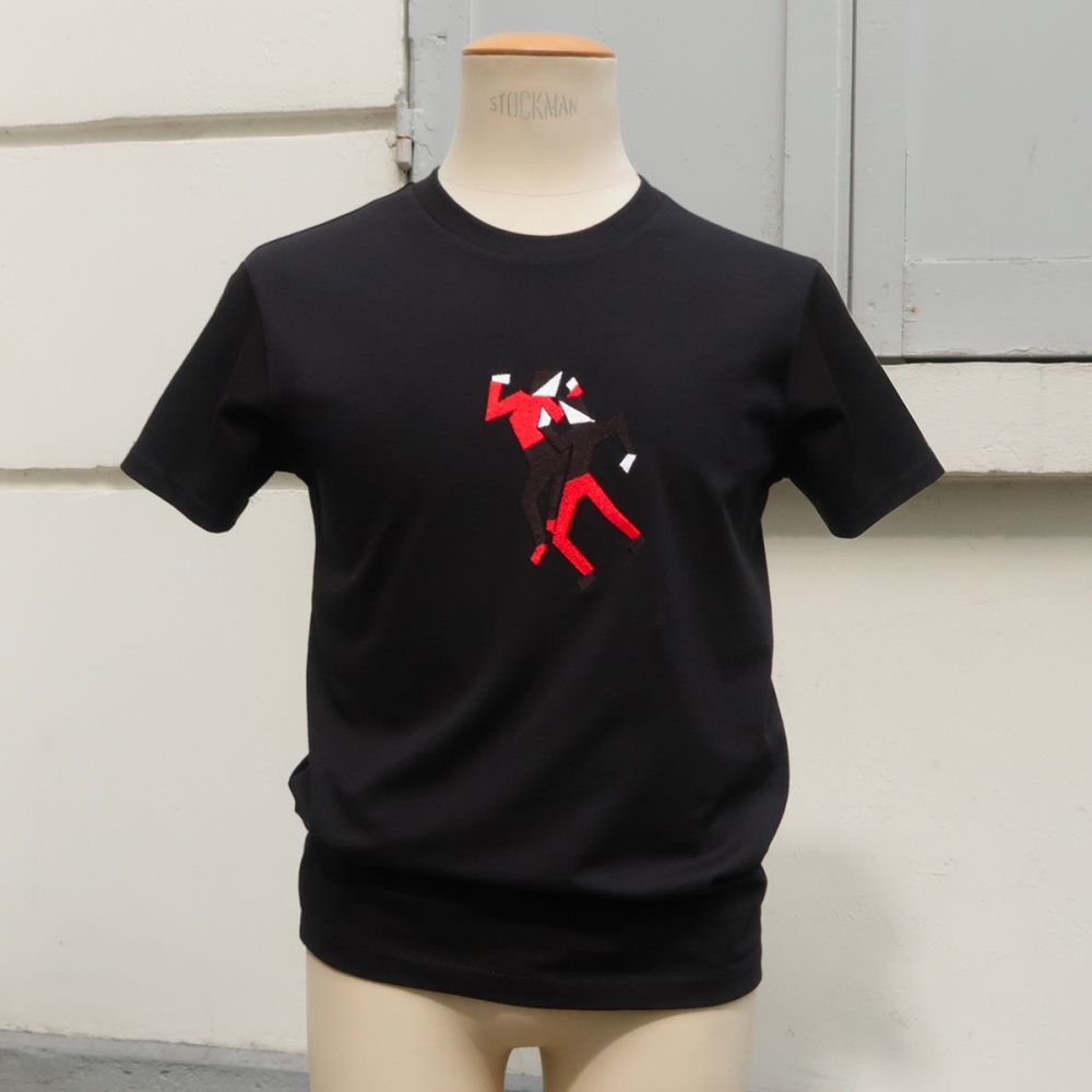 71 Saint Maur embroidered Organic T-shirt
