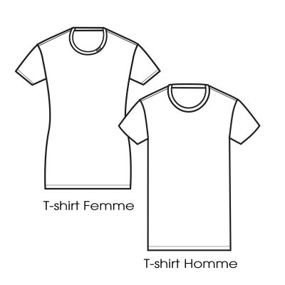 T-shirt Made in France & Bio 3plis col : garanti que votre tshirt bio est made in France car fabriqué à Paris par PhilippeGaber