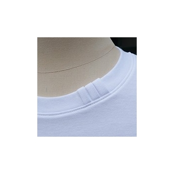 Men's & women's Natural Organic T-shirt rolled sleeves