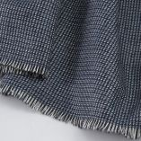 lambswool & silk woven scarf made in France for men and women