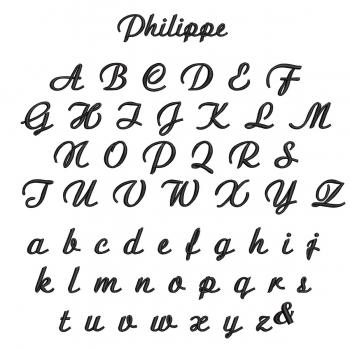 Mouchoirs bio made in france avec votre prénom Brodé style Philippe