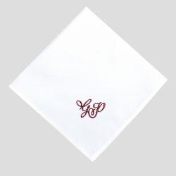 3 mouchoirs coton bio personnalisés style romantique Made in France PhilippeGaber