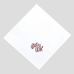 Mouchoirs français en coton biologique personnalisés broderie style amour fabriqué à Paris par philippegaber