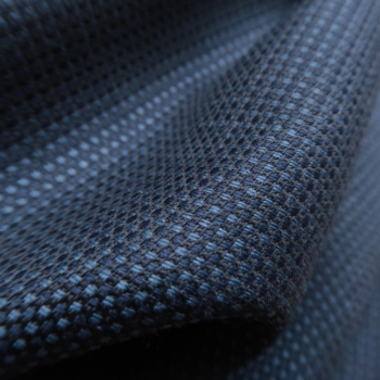Wool and silk Scarf made in France PhilippeGaber beautiful vibration of sulky blue
