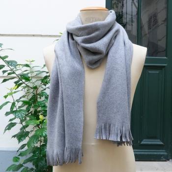 Echarpe brume parisienne fleece de Coton biologique certifié Gots épais, Echarpe luxe Paris PhilippeGaber