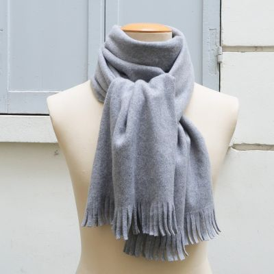Parisian mist Fleece Organic cotton Gots Scarf made in France by Philippegaber